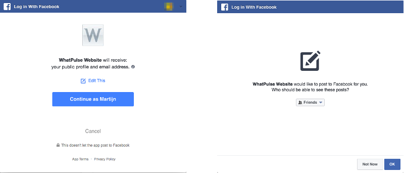 Facebook authorization